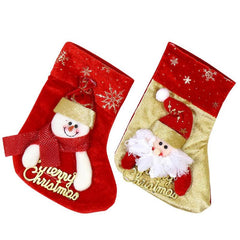 Christmas Sock Gift Candy Bag Xmas Tree Hanging Ornament Mini Christmas Stockings Home Decor Festival Party Ornament Decorations