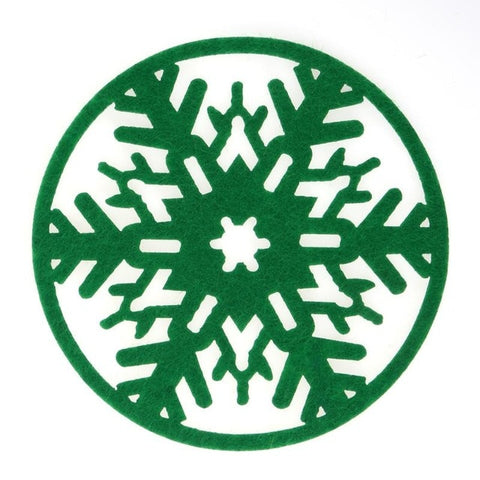 10Pcs/lot Christmas Snowflakes Cup Mat Dinner Party Table Coasters Dish Pad Christmas Decoration for Home New Year Products