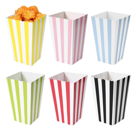 12Pcs Favor Candy Treat Popcorn Boxes for Wedding Party Supply Baby Shower Decoration Christmas Birthday Party Gifts