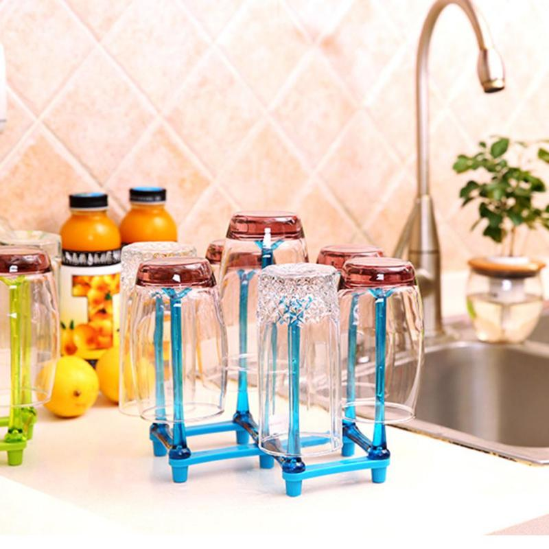 Drainer Dish Shelf Glass Cup Bottle Drying Rack Holder Kitchen Organizer Party Decoration Kitchen Dishes Storage Shelves