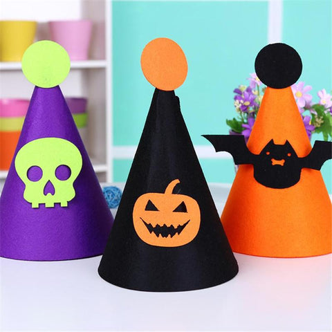 Halloween Kids Hats Caps DIY Nonwovens Hats Halloween Decorations Gift Children Birthday Party Hat for Holiday Decor Supplies