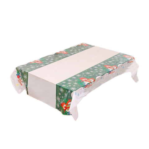 Christmas Style PVC Waterproof Table Cloth Simulation Patterned Rustic Tablecloth Rectangle Table Cover Kitchen Christmas Home Decor (NO.6)