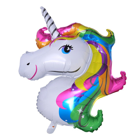 Large Rainbow Unicorn Aluminum Foil Balloon Kids Birthday Party Decoration Fairytale Balloon Party Supplies
