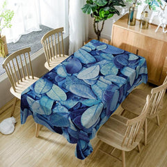 4 Sise Table Cover Leaves Pattern Anti Oil Polyester Rectangle Table Cover Rectangular Tablecloth Home Kitchen Decoration