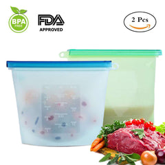 Kitchen Bag Reusable Silicone Food Grade Storage Bag Airtight Container