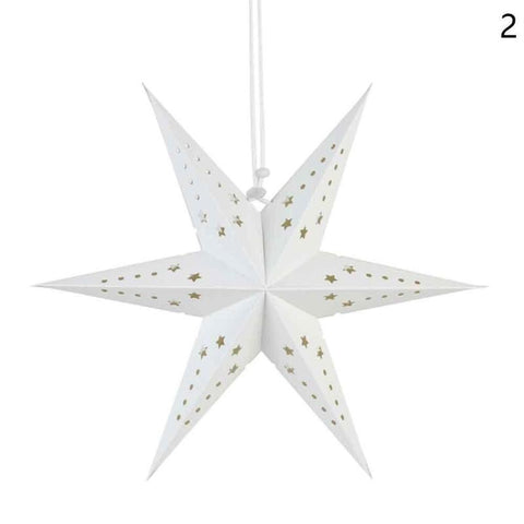 10PCS 6 Angle Paper Star Lantern Window Christmas Holiday Ceiling Decorations