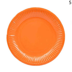 10 Pcs ROUND Paper Party Plates Plain Solid Colours Tableware Events Catering