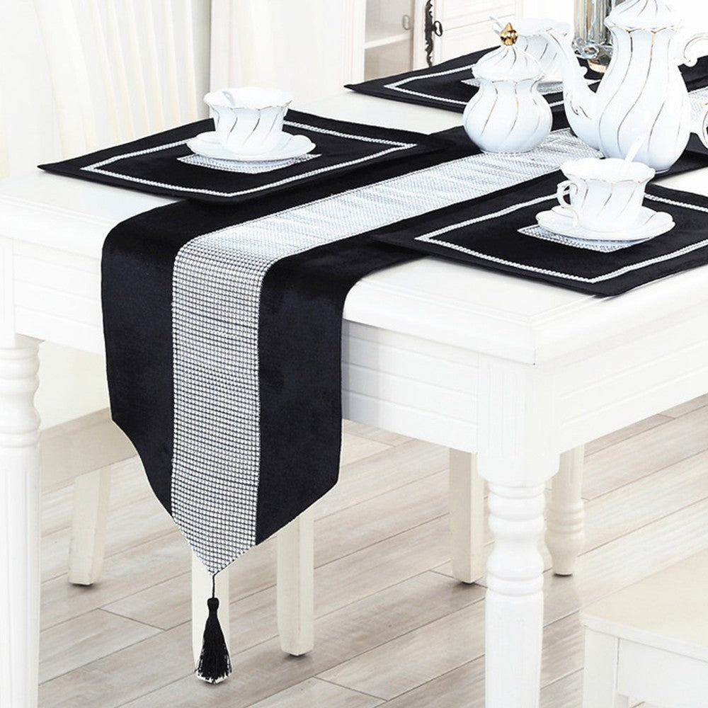 Table banner, tea table cloth, fashion, atmosphere, simple, modern table mat, set with diamond table cloth, noble and luxurious
