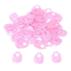 100Pcs/lot Party Confetti Baby Pacifier Bib Table Confetti for Party Birthday Decoration Baby Shower Supplies Pink Blue