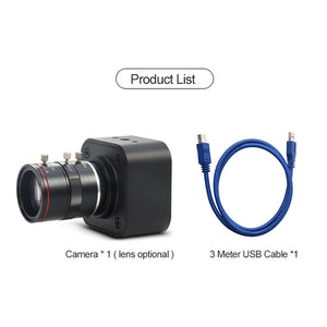 Mokose 16MP USB Industrial Camera UVC Free Drive Webcam 4608*3456p@15FPS Max