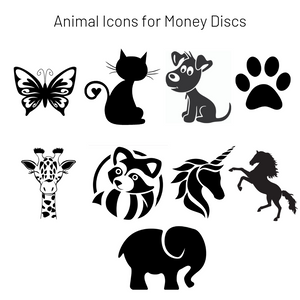 Add-On Animal MoneyDiscs - Money Cubez MoneyCubez Customizable Kids Bank