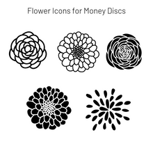 Load image into Gallery viewer, Add-On Flower MoneyDiscs - Money Cubez MoneyCubez Customizable Kids Bank