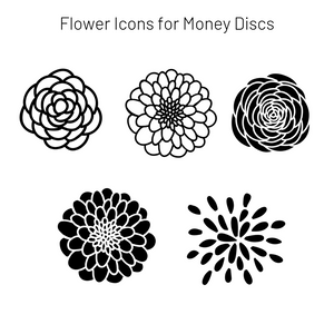 Add-On Flower MoneyDiscs - Money Cubez MoneyCubez Customizable Kids Bank