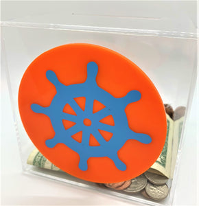 Add-On Nautical/Sea MoneyDiscs - Money Cubez MoneyCubez Customizable Kids Bank