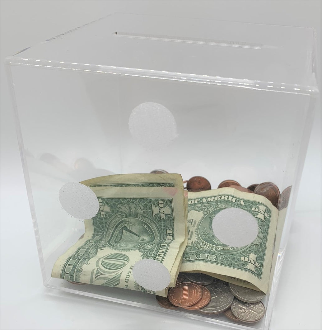 1 - Clear MoneyCubez - Money Cubez MoneyCubez Customizable Kids Bank