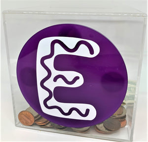 Add-On Initial MoneyDiscs - Money Cubez MoneyCubez Customizable Kids Bank