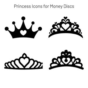Add-On Princess MoneyDiscs - Money Cubez MoneyCubez Customizable Kids Bank