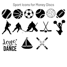 Load image into Gallery viewer, Add-On Sport MoneyDiscs - Money Cubez MoneyCubez Customizable Kids Bank