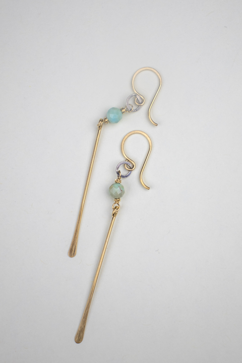 Elaine Earrings with Turquoise