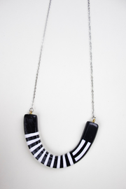 Spruce Necklace in Black Stripes