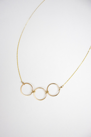 Gold Circle Trio Necklace