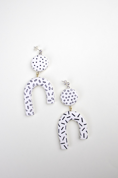 Sequoia Earrings in White