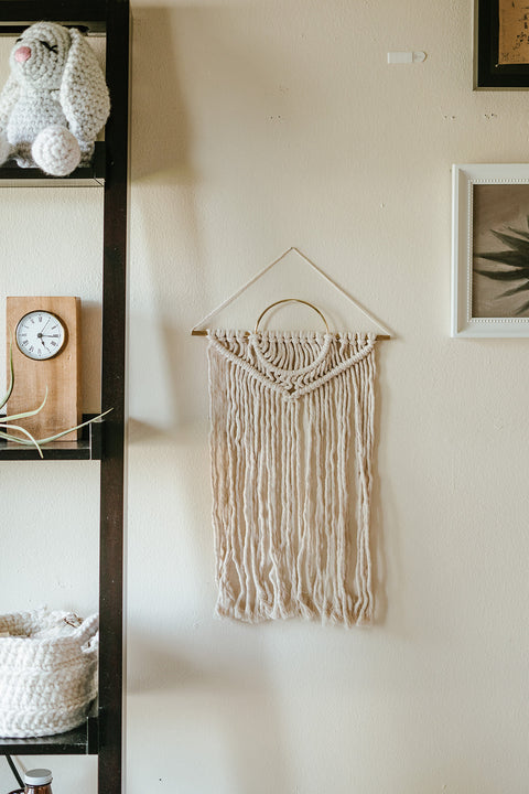 Geometric Mod Wall Hanging with Brass