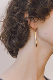 IBIS ELEMENT ARISTO bronze earrings on model close up