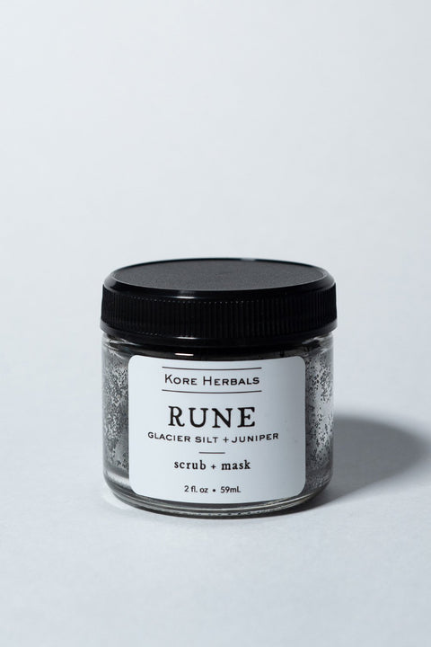 Kore Herbals Rune Facial Scrub on white, front