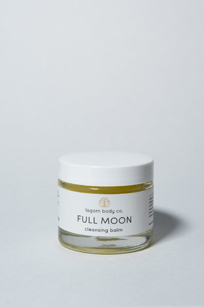 Lagom Full Moon Cleasing Balm on white