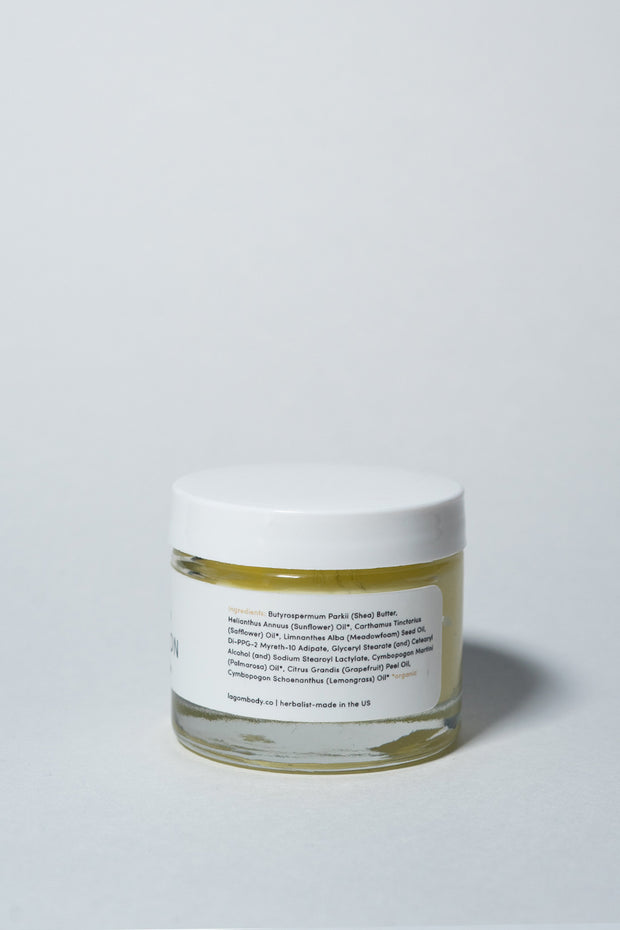 Lagom Full Moon Cleasing Balm on white side 1
