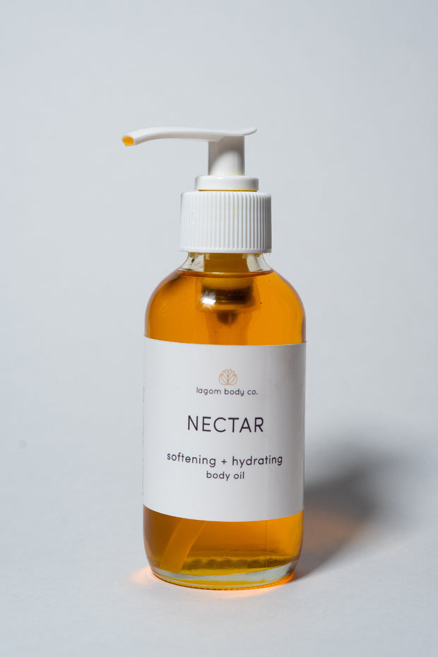 Lagom Body Co Nectar — Softening and Hydrating Body Oil on white