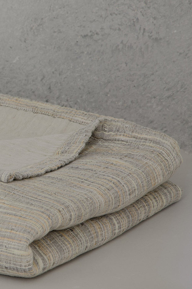 Madison Colleciton Printed Yarn Blanket folded detail
