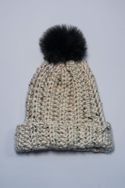 Jamie Beanie in Aspen Tweed
