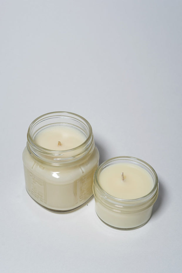 I am Optimistic: Ginger Saffron Candle from Yo Soy in two sizes, white