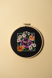 Junebug and Darlin Be Bold Cross Stitch Kit on color
