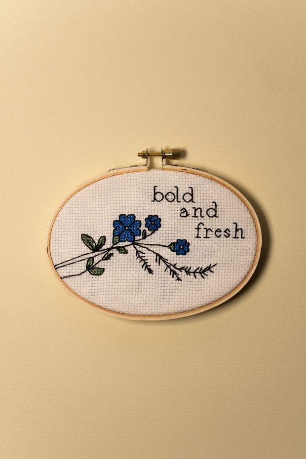Junebug and Darlin Bold and Fresh Cross Stitch Kit on color
