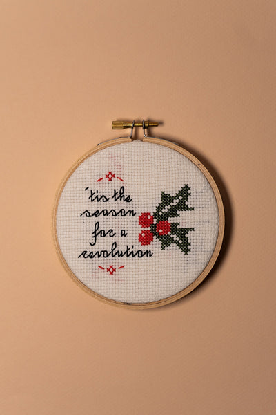 Junebug and Darlin Tis the Season For a Revolution Cross Stitch Kit on color