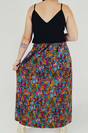 Ditsy Floral Printed Maxi Skirt