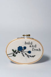 Bold and Fresh Cross Stitch Kit