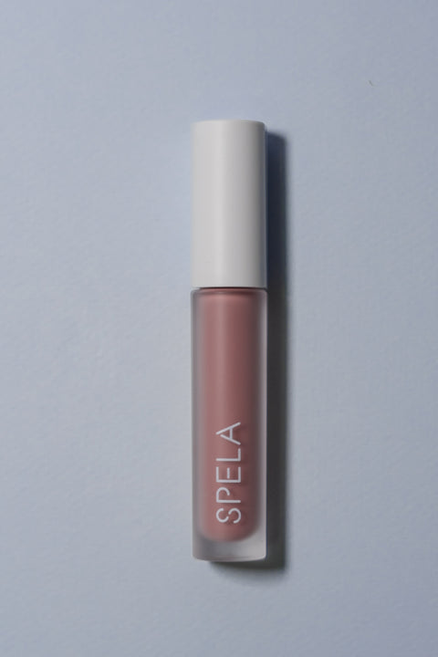 spela asana lipstick on color backgroud
