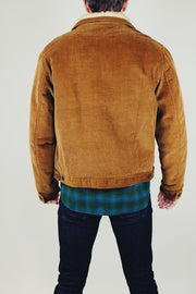 Camel Corduroy Jacket with Sherpa