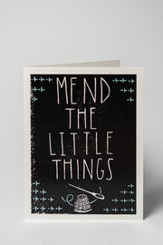 Loaded Hips Press Good Vibes Card Mend the Little Things Card