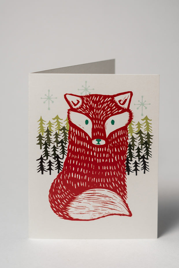Loaded Hips Press Animal Holiday Card Set Fox