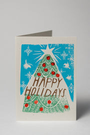 Loaded Hips Press Mixed Holiday Card Set Tree