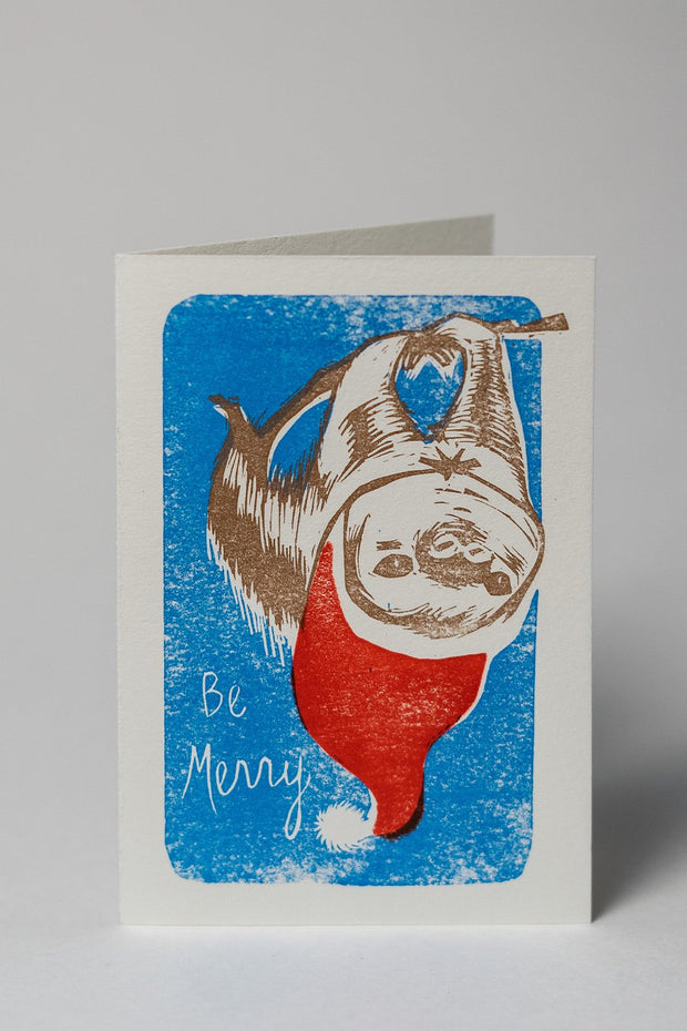 Loaded Hips Press Mixed Holiday Card Set Sloth