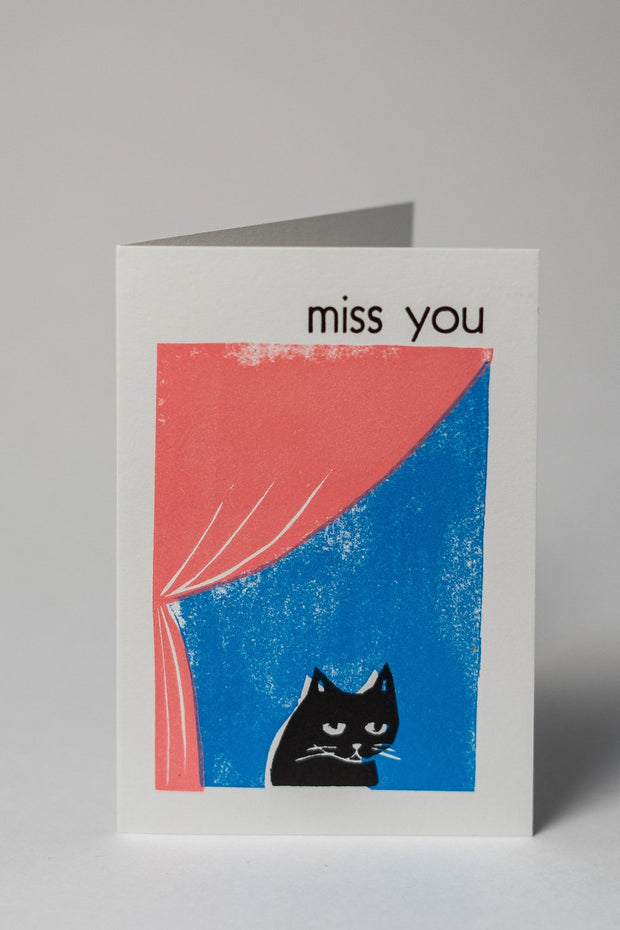 Loaded Hips Press Kitty Cards Set Miss You