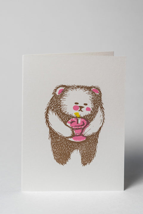 Loaded Hips Press Happy Birthday Card Set Bear