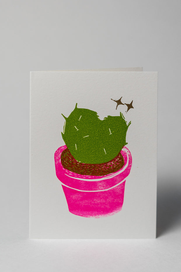 Loaded Hips Press Plant Love Cactus Card