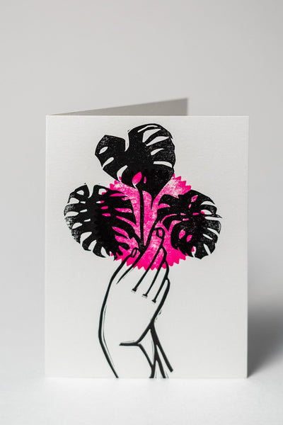 Loaded Hips Press Plant Love Tropical Card